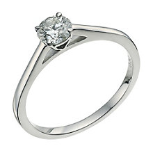 Palladium 950 0.50ct diamond solitaire ring - Product number 9565329
