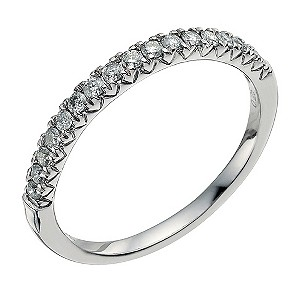 Palladium 950 1/4 carat diamond eternity ring - Product number 9565981