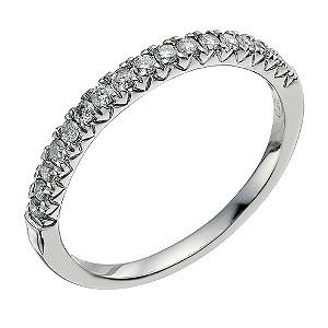 Palladium 950 0.25ct diamond eternity ring - Product number 9565981