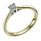 9ct yellow & white gold 0.08 carat diamond solitaire ring - Product number 9567585