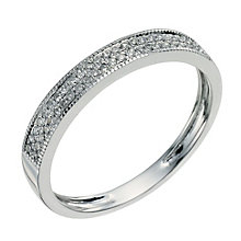 18ct white gold diamond set eternity ring - Product number 9570055