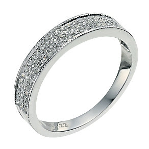 18ct white gold 0.22 carat diamond eternity ring - Product number 9570209
