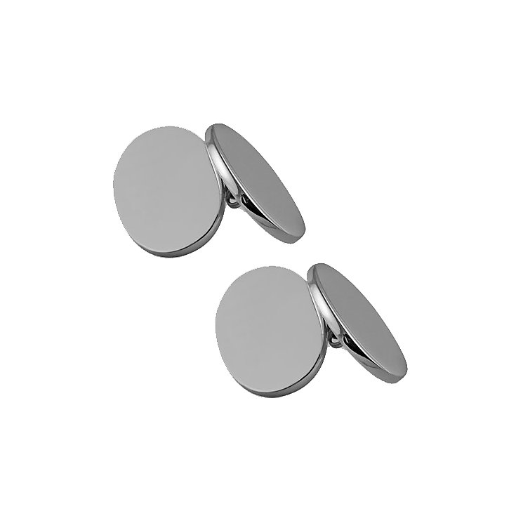 Men's silver double oval cufflinks - Product number 9571116