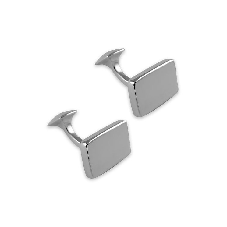Sterling Silver Rectangular Cufflinks - Product number 9571159