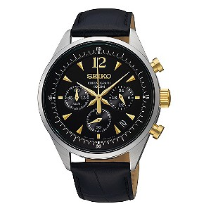 seiko s chronograph black h samuel the