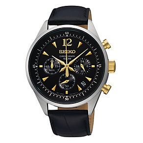 Seiko Men's Chronograph Black Strap Watch - Product number 9572953