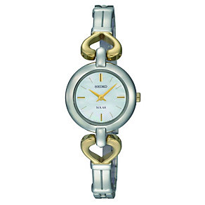 Seiko Solar Ladies' Mother of Pearl Dial Bangle Watch - Product number 9573089