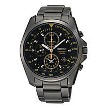 Seiko Men's Chronograph Black Ion Plated Bracelet Watch - Product number 9573100