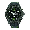 Seiko Sportura Men's Chronograph Black and Green Strap Watch - Product number 9573208