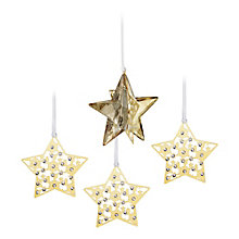 Swarovski Christmas Star Set Crystal Golden Shadow - Product number 9573275