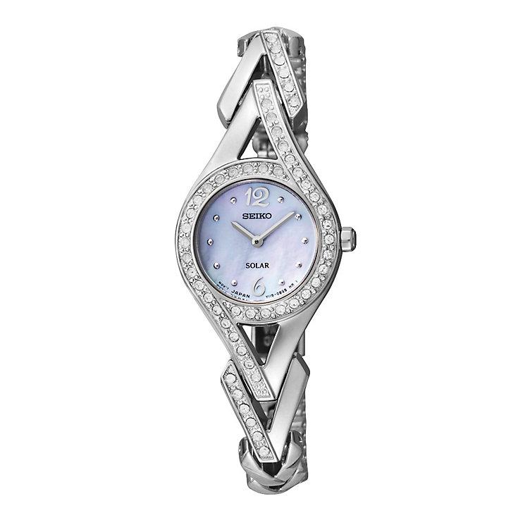 Seiko Solar Ladies' Swarovski Stone Set Bracelet Watch - Product number 9573585
