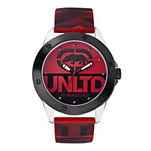 Marc Ecko Red Silicone Print Strap Watch - Product number 9574883