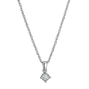 Sterling Silver Diamond Pendant - Product number 9575170