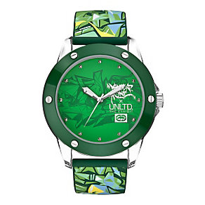 Marc Ecko Green Logo Silicone Strap Watch - Product number 9575707