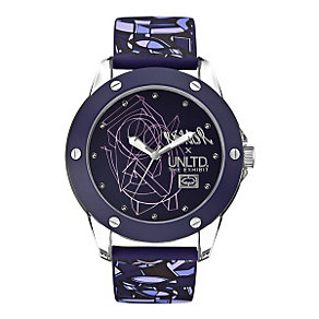 Marc Ecko Purple Print Silicone Strap Watch - Product number 9575731