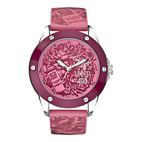 Marc Ecko Pink Print Silicone Strap Watch - Product number 9575804