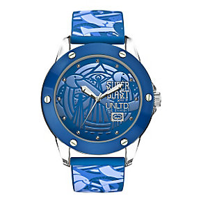 Marc Ecko Blue Print Silicone Strap Watch - Product number 9575847