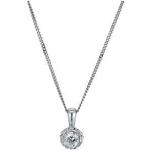The Forever Diamond 9ct White Gold 15pt Diamond Pendant - Product number 9575936