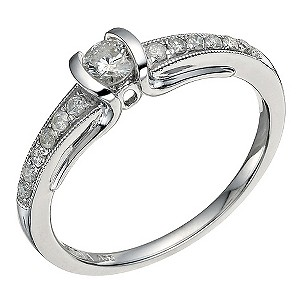 18ct White Gold 1/3 Carat Diamond Solitaire - Product number 9576126