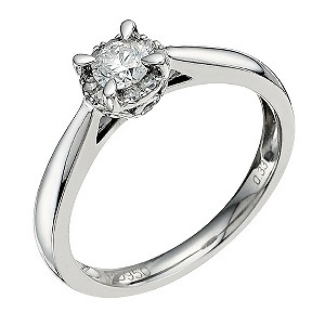Palladium 1/3 Carat Diamond Solitaire - Product number 9576371