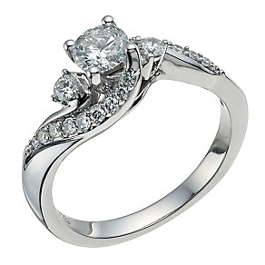 18ct White Gold 3/4 Carat Diamond Ring - Product number 9577998