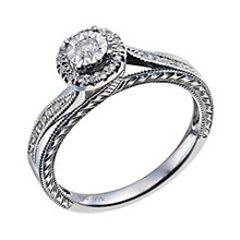 Argentium Silver Diamond Cluster Ring - Product number 9580026