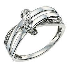 Argentium Silver Diamond Set Twist Ring - Product number 9581634