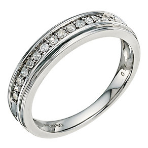 Palladium 950 1/6 Carat Diamond Eternity Ring - Product number 9582436