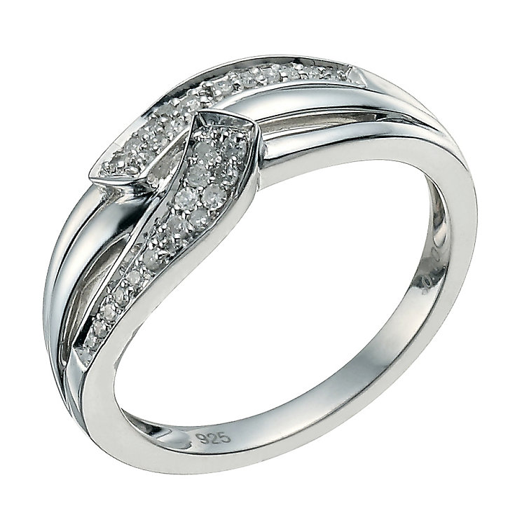 Sterling Silver Diamond Curve Eternity Ring - Product number 9582568