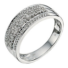 9ct White Gold 0.33 Point Diamond Eternity Ring - Product number 9582959