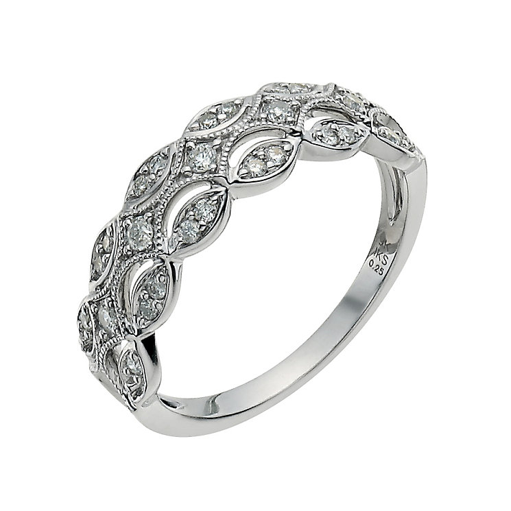 9ct White Gold Quarter Carat Diamond Eternity Ring - Product number 9583343