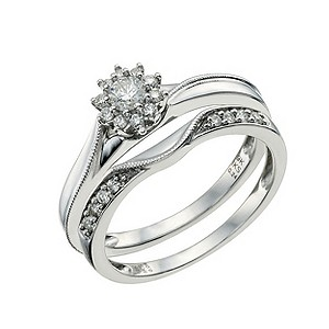 Perfect Fit 9ct White Gold 1/3 Carat Diamond Bridal Set - Product number 9584625