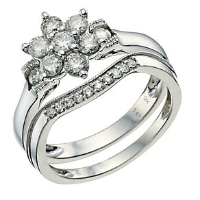 Perfect Fit 9ct White Gold 3/4 Carat Diamond Ring - Product number 9584765