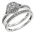 Perfect Fit 9ct White Gold 1/3 Carat Diamond Bridal Set - Product number 9584900