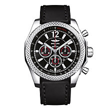 Breitling Bentley Barnato 42 men's black leather strap watch - Product number 9585044