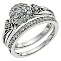 Perfect Fit 9ct White Gold 1/2 Carat Diamond  Bridal Set - Product number 9585591