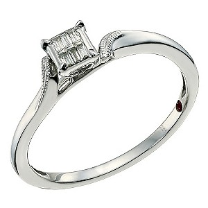 Cherished Argentium Silver & Baguette Cut Diamond Ring - Product number 9586512