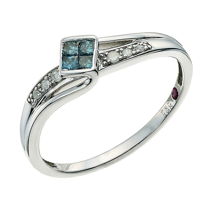 cherished argentium silver treated blue ring h