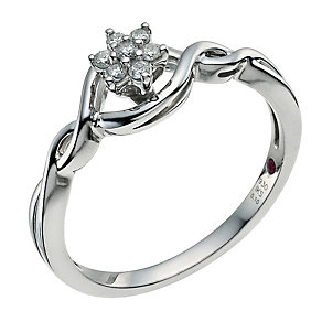 Cherished Silver Diamond Cluster Ring - Product number 9587314