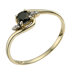 9ct Yellow Gold Sapphire & Diamond Ring - Product number 9588620