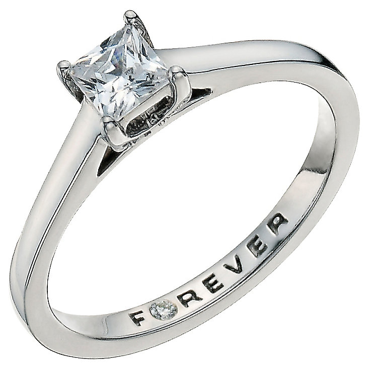Palladium 0.37 carat total Forever Diamond Ring - Product number 9592806