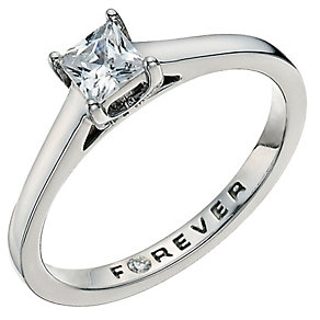 The Forever Diamond Palladium 950 39pt Diamond Ring - Product number 9592806