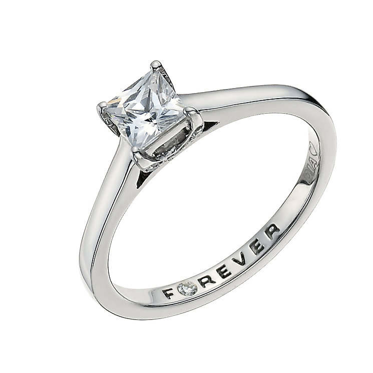 Palladium 0.56 Carat Forever Diamond Ring - Product number 9593128