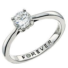 Palladium 950 2/3 Carat Forever Diamond Ring - Product number 9593462