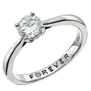 The Forever Diamond Palladium 950 2/3 Carat Diamond Ring - Product number 9593462
