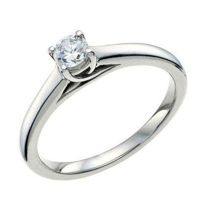 9ct White Gold 14 Carat Forever Diamond Ring HSamuel
