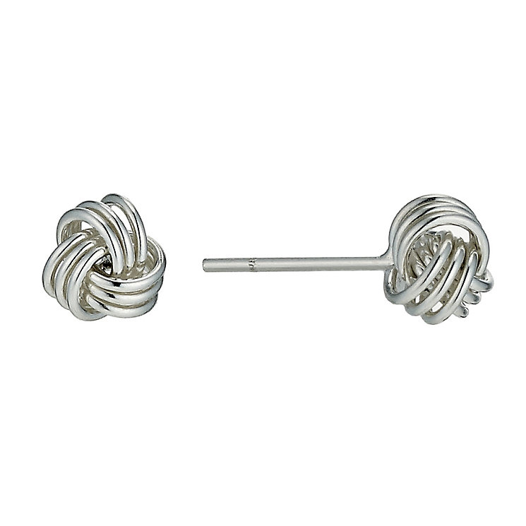 Silver 6mm Knot Stud Earrings - Product number 9595791