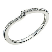 9ct White Gold Diamond Shaped Band - Product number 9596755