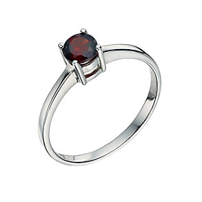 Sterling Silver Garnet Ring Size L - Product number 9597018