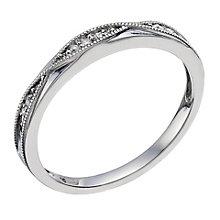 Palladium & Diamond Shaped Band - Product number 9597239